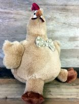 Fluffy Brown Cute Chicken with Bow Tie Doorstop